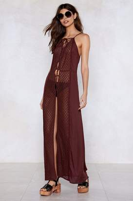 Nasty Gal Pull Some Strings Lace Dress