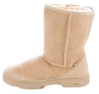 UGG Australia Shearling Round-Toe Ankle Boots $95 thestylecure.com