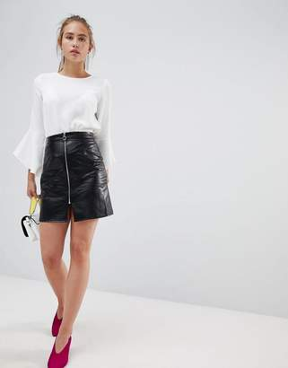 Glamorous a-line skirt with zip front