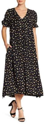 Lucca Couture Floral V-Neck Midi Dress
