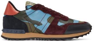 Valentino Multicolor Garavani Camouflage Rockrunner Sneakers
