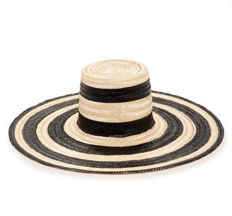 Janessa Leone Eloise Striped Straw Hat