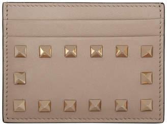 Valentino Pink Garavani Rockstud Card Holder