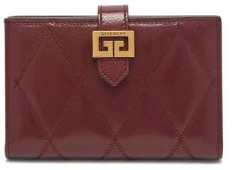 Givenchy Gv3 Quilted Leather Bi Fold Wallet - Womens - Burgundy