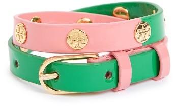 Tory BurchWomen's Tory Burch Colorblock Patent Leather Wrap Bracelet
