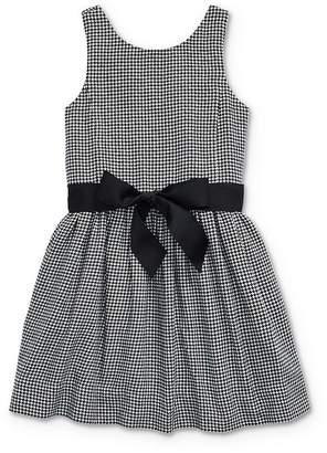 Ralph Lauren Girls' Houndstooth Print Dress - Little Kid