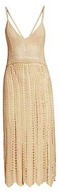 Ralph Lauren Women's Blonde Silk Cami Crochet Dress