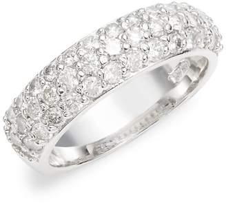 Saks Fifth Avenue Women's White Gold & Diamond Studded Band Ring