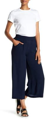 Max Studio High Rise Crepe Culotte Pants