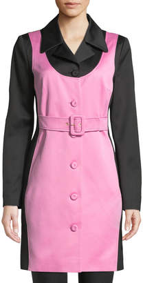 Moschino Colorblocked Belted Trench Coat