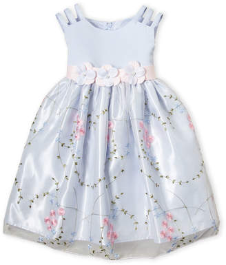 Princess Faith (Toddler Girls) Strappy Floral Embroidered Dress