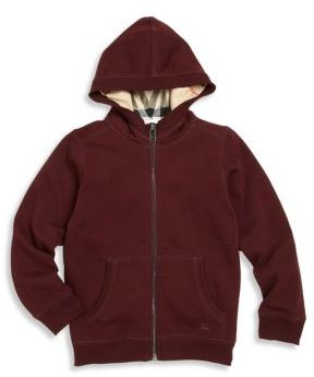 Burberry Little Boy's & Boy's Solid Zippered Hoodie $150 thestylecure.com