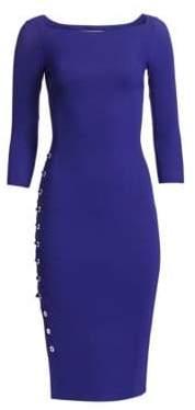 Chiara Boni Lace-Up Detail Sheath Dress