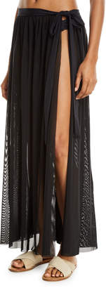 Jets Aspire Mesh Wrap Coverup Skirt
