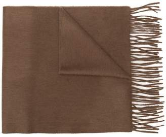 Co Begg & classic fringed cashmere scarf