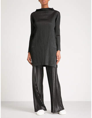 Pleats Please Issey Miyake High-neck pleated dress