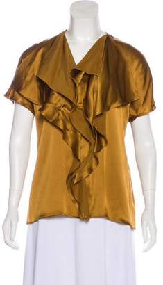 Etro Silk Short Sleeve Top