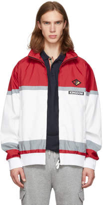 Burberry Red and White Track Jacket