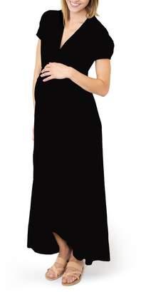 Nom Maternity 'Caroline' Maternity/Nursing Maxi Dress