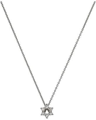 Roberto Coin Tiny Treasures Star of David Pendant With Diamonds Necklace