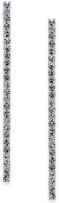 Kate Spade Silver-Tone Crystal Linear Drop Earrings