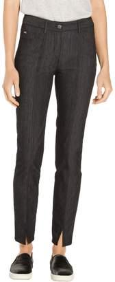 St. John Lightweight Front Slit Denim 5 Pocket Bardot Jean
