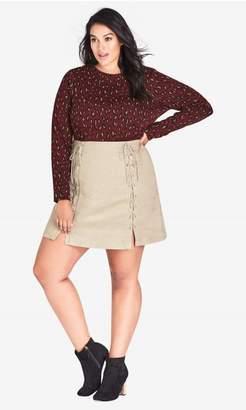 City Chic Citychic Mini Sueded Skirt