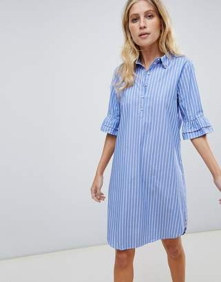 Maison Scotch shirt dress with ruffle sleeves
