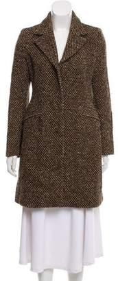 Prada Virgin Wool Tweed Coat