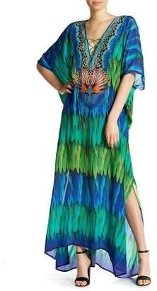 Shahida Parides 3 Way to Wear Long Silk Kaftan