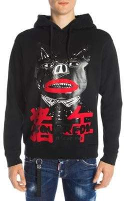 DSQUARED2 Men's Year Of The Pig Graphic Hoodie - Black - Size Large