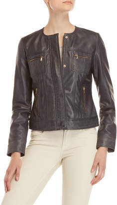 Cole Haan Navy Leather Jacket