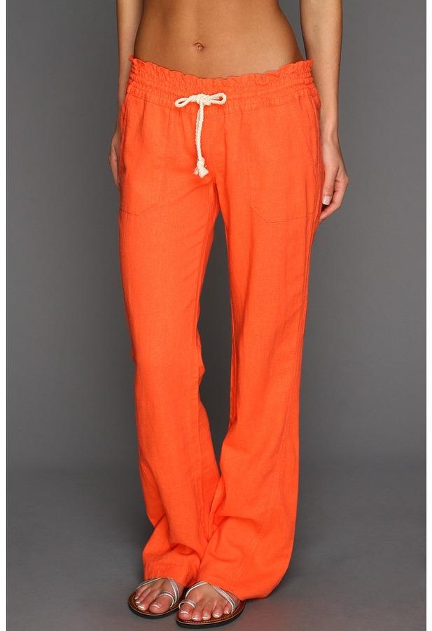Roxy Ocean Side Pant (Pop Orange) - Apparel