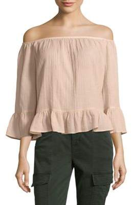 Britanee Off-The-Shoulder Neckline Top $138 thestylecure.com