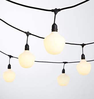 Rejuvenation 24 LED Porcelain White Bulb String Lights