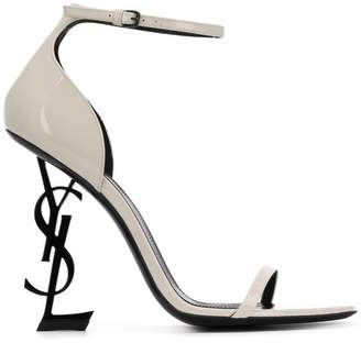 Saint Laurent logo heel sandals