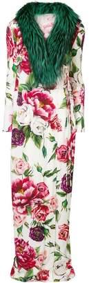 Dolce & Gabbana trimmed maxi coat