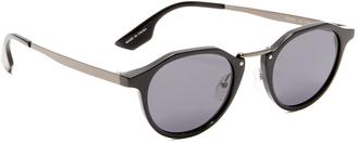 McQ - Alexander McQueen Round Oxford Sunglasses $169 thestylecure.com