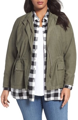 Plus Size Women's Sejour Relaxed Utility Jacket $99 thestylecure.com