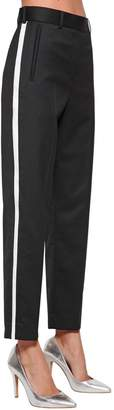 Calvin Klein Straight Wool Blend Pants W/ Side Bands