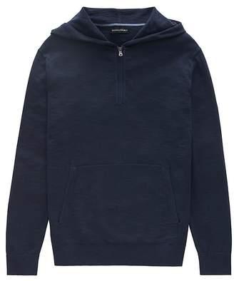 Banana Republic Cotton Half-Zip Sweater Hoodie