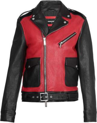 DSQUARED2 Bicolor Leather Jacket