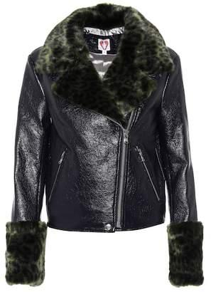 Shrimps Maisie faux-fur-trimmed jacket