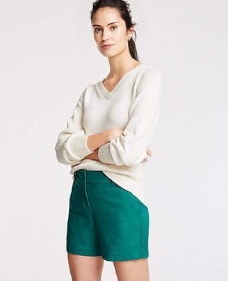 Ann Taylor Textured Cotton Mid Shorts