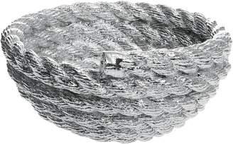 Areaware Coil Rope Bowl, Pig Chrome