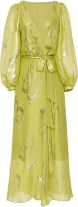 Temperley London Eda Metallic Print Silk-Blend Dress