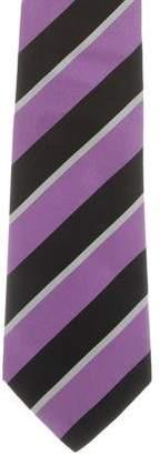 Ralph Lauren Purple Label Striped Silk Tie