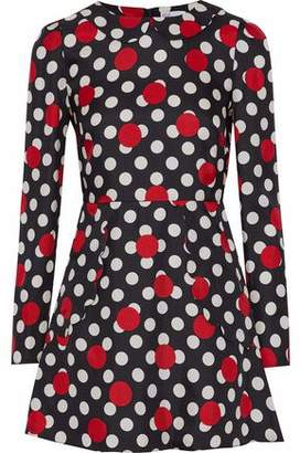 RED Valentino Polka-Dot Silk-Twill Mini Dress