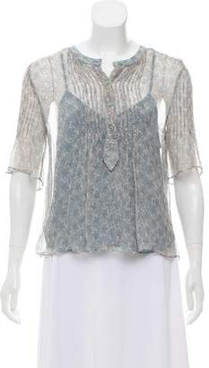 Zadig & Voltaire Silk Thai Print Top