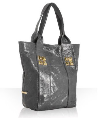 Shih by Stephanie Lin light grey patent 'Diego Toto' tall tote